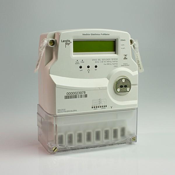 Medidor de energia E34A 0112 Trifásico com saida serial